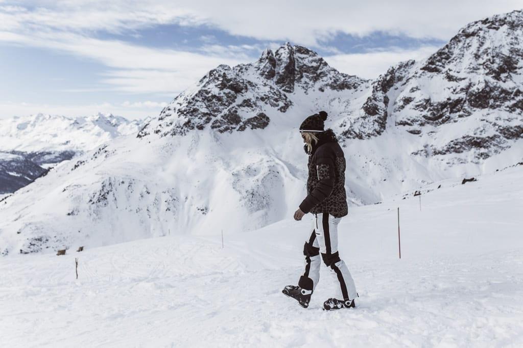 Karin Kaswurm am Gletscher in St Moritz